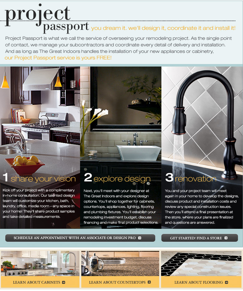 kitchen and bath design center country door knobs the great indoors project passport you dream it we ll coordinate install is what call service of overseeing your remodeling